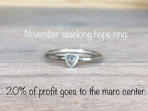 november stacking hope   MARC CENTER