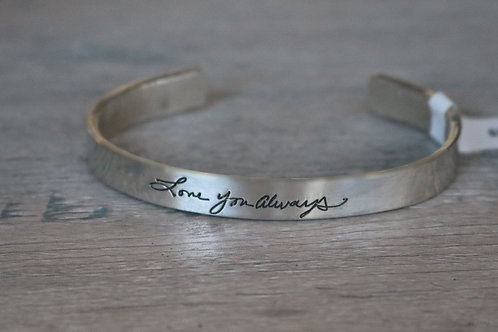 handwriting extra small cuff