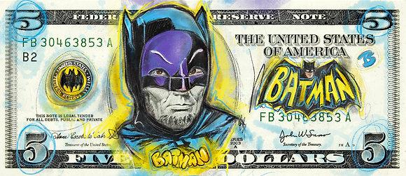 BATMAN $5 DOLLAR - DOODLE PRINT