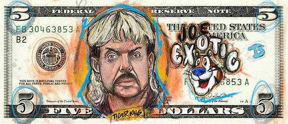 TIGER KING $5 DOLLAR - DOODLE PRINT