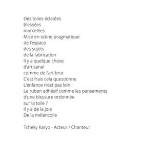 Texte Tcheky Karyo