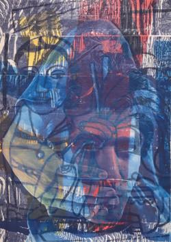 Tableau art taping Alain vs Fernand