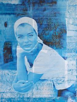 Blue Romy - art taping eugenie fauny