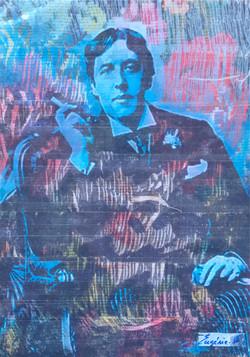 Tableau art taping Oscar Wilde