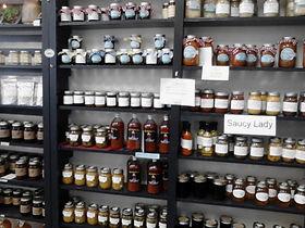 Jams, jellies, relish, sauces, saurkraut, mustards