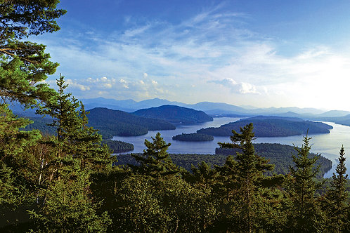 View of Lake Placid from Eagles Eyrie