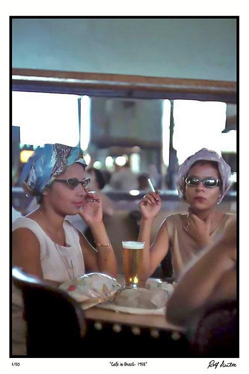 """Cafe in Brazil, 1958   12"""" x 18"""""""