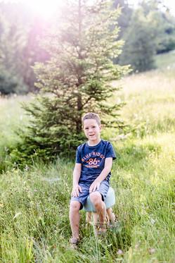 Kinderfotos im Innerthal am Wägitalersee