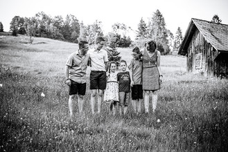 Familienfotos im Innerthal am Wägitalersee