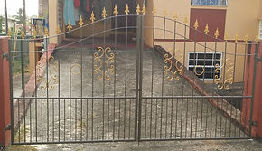 Wrought iron double drive gate