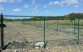 Green PVC coated 5ft domestic fence