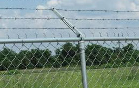 Commercial chain link fence with Barbed Wire