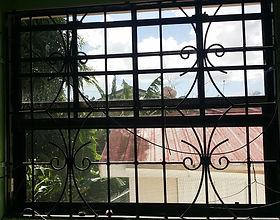 Window wrought iron burglar bars