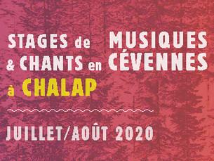 CHALAP 2020 - Le programme des stages est en ligne, les inscriptions continuent !
