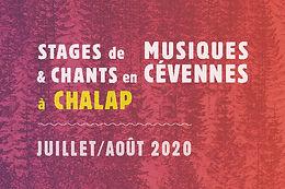 Stage été 2020 à Chalap, Retrouvez le programme complet