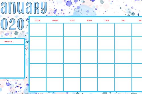 TBRC 12 Month Calendar