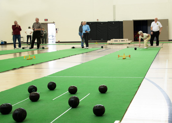 Lawn bowls inside or out!
