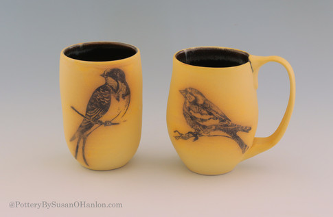 Mug-and-Tumbler-Set-Matte-Yellow-Glaze-S