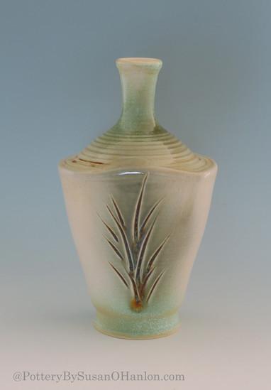 Bottle-Vase-Carved-Multiple-Sprayed-Glaz