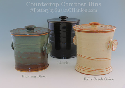Compost Bins Three in Trash Can Style wi