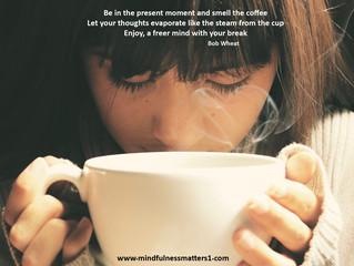 A mindfulness coffee break