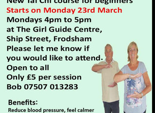 Frodsham has a New Tai Chi Class