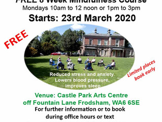 Free Mindfulness in Nature - Frodsham, Cheshire
