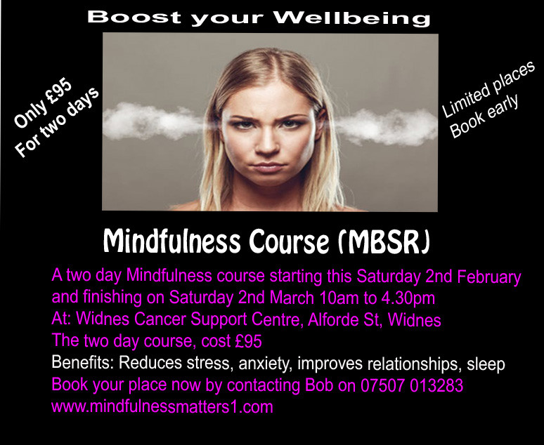 Saturday Mindfulness Course, Widnes Cheshire