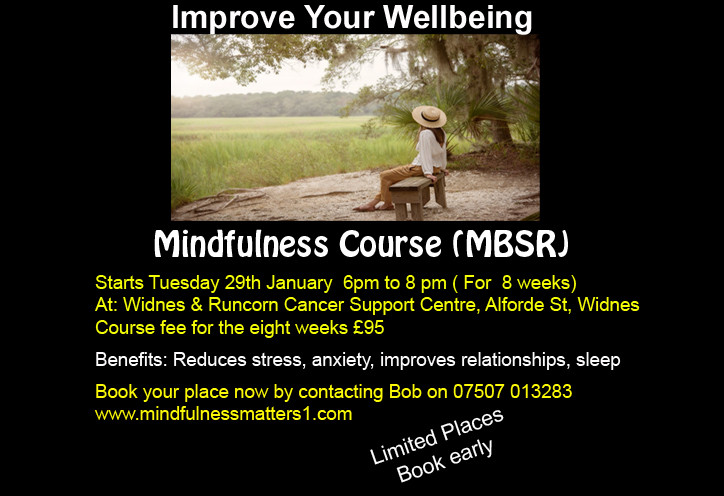 Tuesday Mindfulness course, Widnes Cheshire
