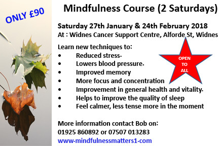 Saturday Mindfulness course Widnes