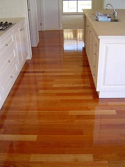 Hardwood timber floor home