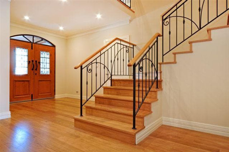 Blackbutt floorboards staircase home