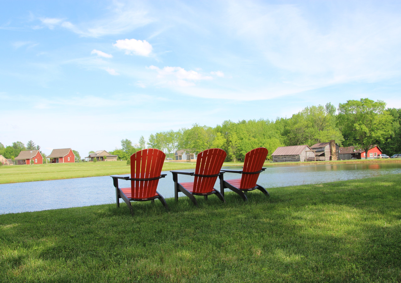 Chairs by Blackberry Pond