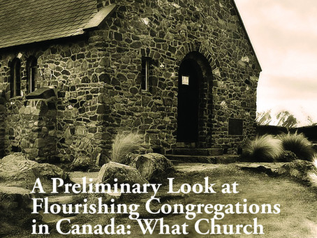 New Book Released! Flourishing Congregations in Canada