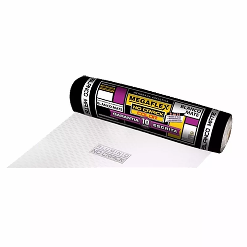 Membrana Asfáltica Aluminio No Crack Color Blanca