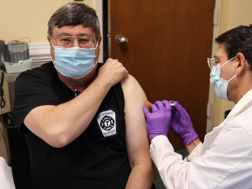 COVID-19 vaccination has begun in Calvert County!
