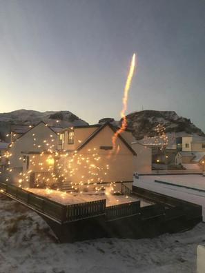 Fireworks, new year
