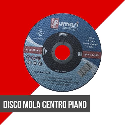 Disco mola centro piano inox/ferro