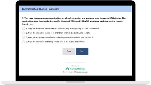 IHPCSS Quiz Sample Question