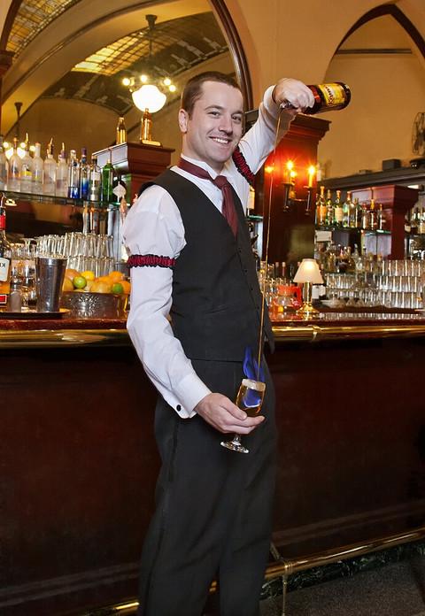 bartender pouring drink