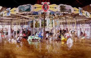 merry go round in flood