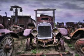 old auto junkyard