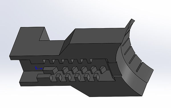 Complex geometries on both top and bottom make this part impossible to print for a typical FDM machine