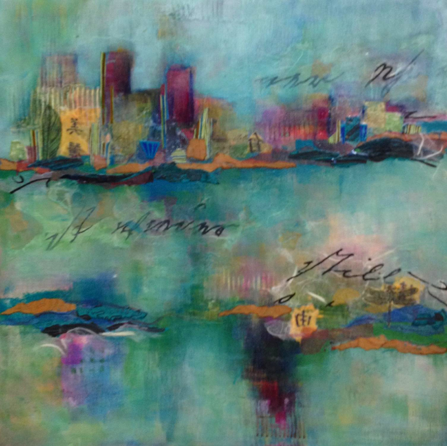 SOLD Exotic City Scape