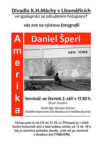 Daniel Šperl, Amerika - Divadlo K.H.Máchy Litoměřice, září-říjen 2021 - plakát-2.jpg