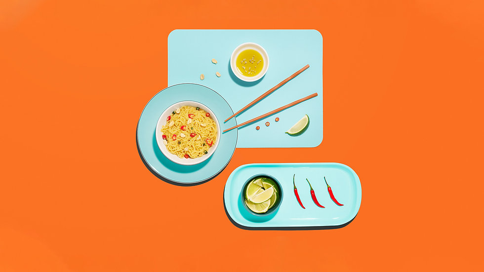 Bold colourful food photography