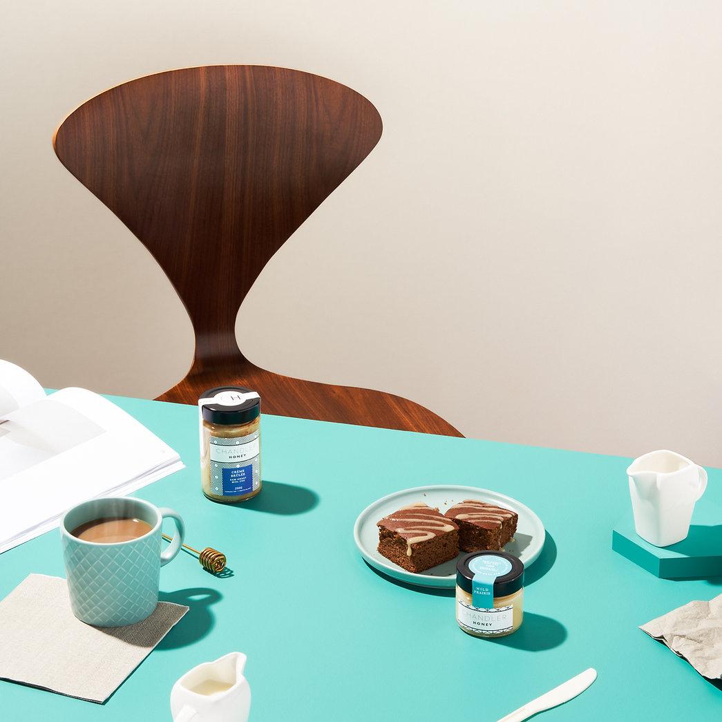 Creative Lifestyle Coffee and Honey Advertising Image