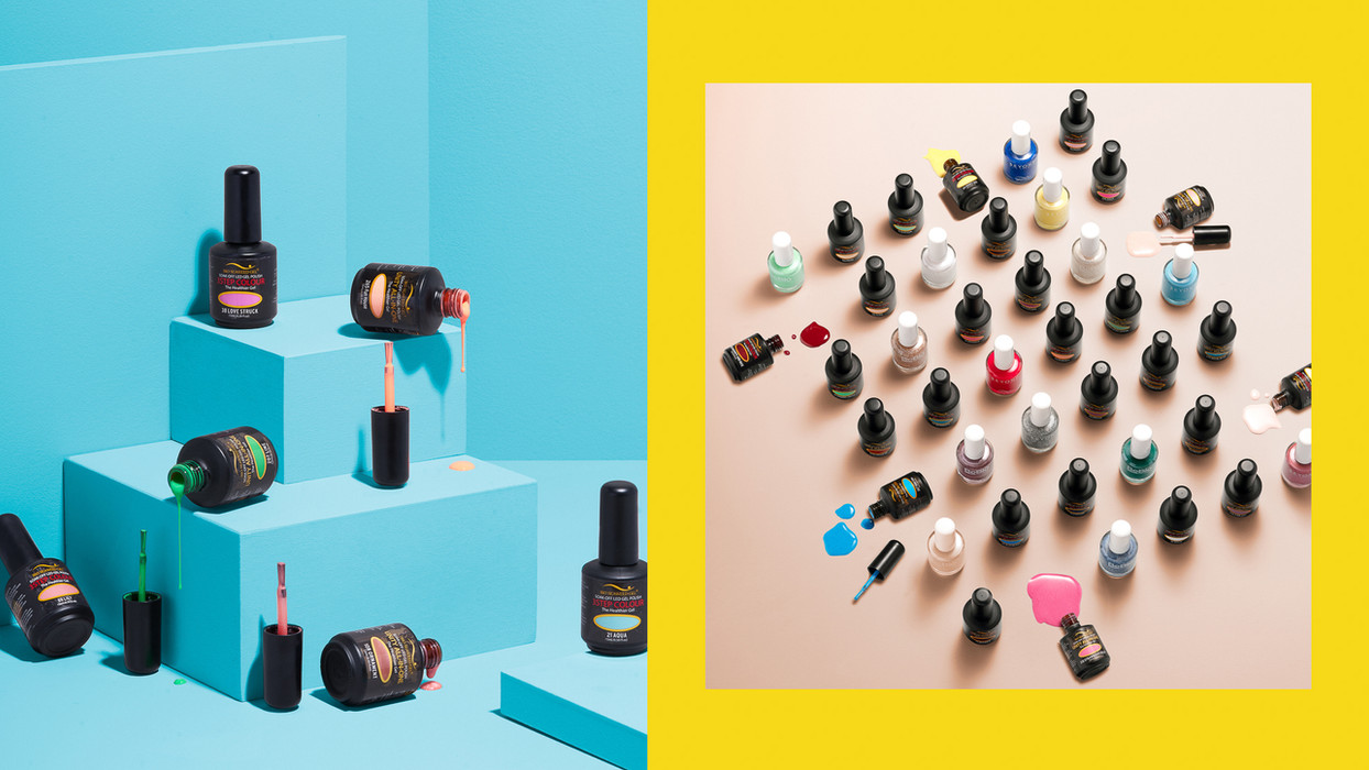 colourful product photography in studio by katnik