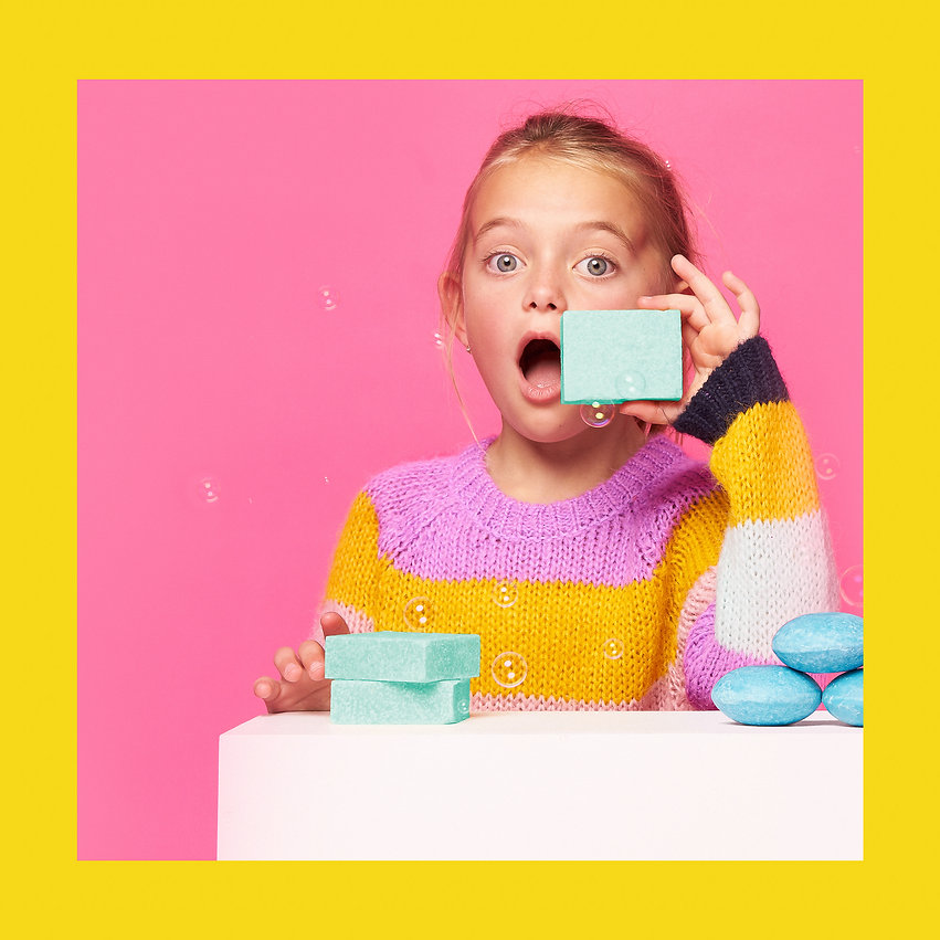 colourful kids product photography in studio by katnik