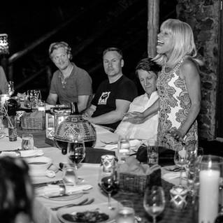 Dinner in Ulusaba with Sir Richard Branson